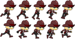 cowboy run sprite image
